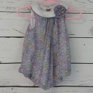 Nursery Rhymes Lavender Onesie Dress